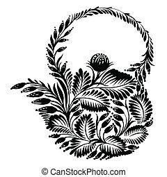 décoratif, silhouette, théière