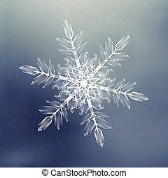 décoratif, snowflakes., modèle fond, pour, hiver, et, noël, thème