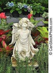 décoratif, statue, jardin, beauté