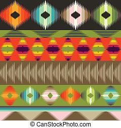 décoratif, style, géométrique, modèle, ethnique
