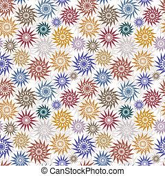 décoratif, style, indigène, stars.