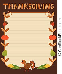 décoratif, thanksgiving, signe