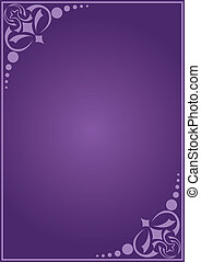 décoratif, vecteur, carte, violet