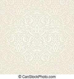 décoratif, vendange, bege, ecru, fond, mariage, floral