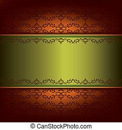 décoratif, vendange, ornement, modèle fond