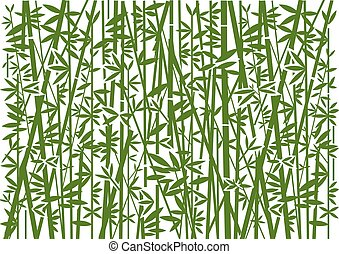 décoratif, vert, arrière-plan., bambou