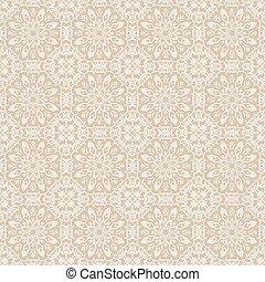 décoratif, vieux, dentelle, flowers., fond, beige, blanc