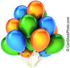 décoration, anniversaire, ballons