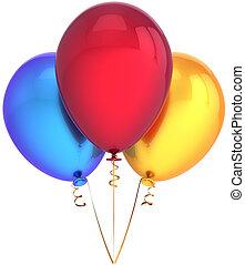décoration, ballons, coloré