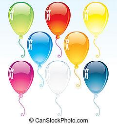 décoration, ballons, lustré