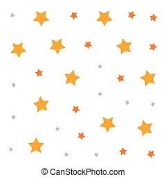 décoration, blanc, étoiles, fond
