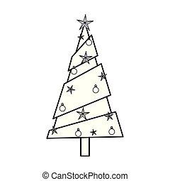 décoration, blanc, arbre, fond, étoiles