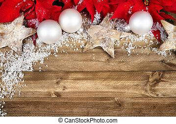 décoration, bois, noël