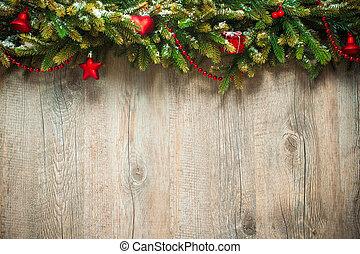 décoration, bois, sur, noël, fond