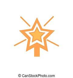 décoration, clair, icône, or, heureux, étoile, noël