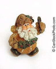 décoration, claus, noël, santa
