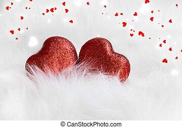décoration, coeur, valentin