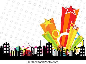 décoration, conception urbaine, étoile