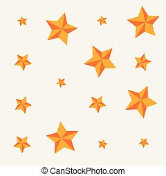 décoration, doré, récompenses, étoiles, fond