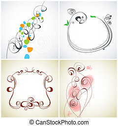 décoration, ensemble, calligraphic