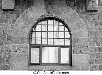 décoration, fenêtre, élément architectural