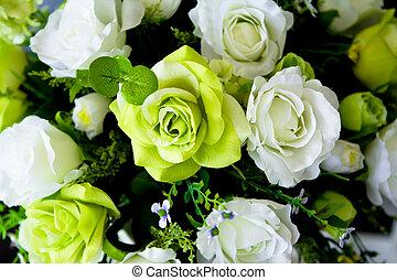 décoration, fleur, artificiel