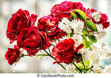 décoration, fleurs