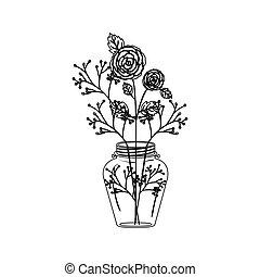 décoration, fleurs, conception, isolé