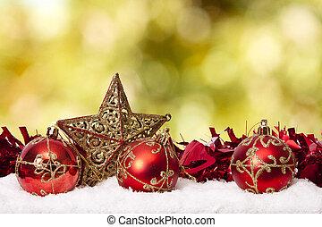 décoration, fonds, traditionnel, noël, fetes