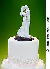 décoration, gâteau, mariage