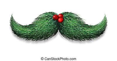 décoration, hiver, moustache