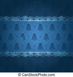 décoration, horizontal, carte, invitation