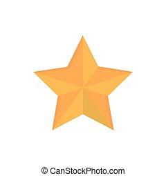 décoration, icône, or, heureux, étoile, noël
