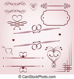décoration, jour, valentine