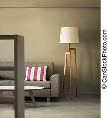 décoration, maison, concept, moderne