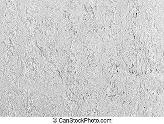 décoration, mur, ciment, blanc