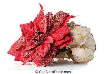décoration, noël, rouges