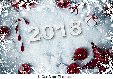 noel 2018 a la neige Bois, flocons neige, neige, space., décoration noël, fond, flocons  noel 2018 a la neige