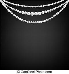 décoration, perle