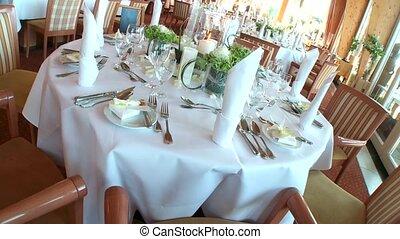 décoration, table