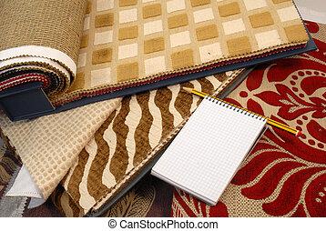 décoration, tissus, maison