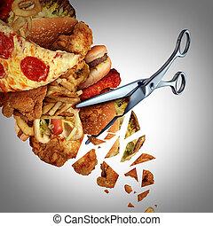 découpage, calories