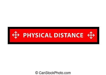 découpage, vecteur, transmission, distance, ou, simple, rectangle, avertissement, physique, autocollant, covid-19, prévention, social, pandémie, virus
