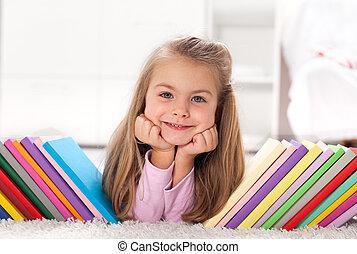 découvrir, mondiale, peu, livres, girl