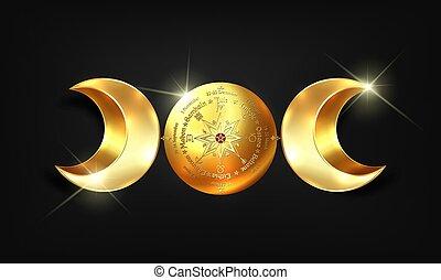déesse, année, noms, solstices, païen, lune, annuel, wiccan...