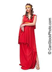 déesse grecque, robe, girl