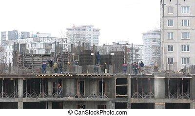 défaillance, construction, bâtiment., temps