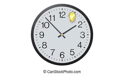 défaillance, exploser, horloge, temps