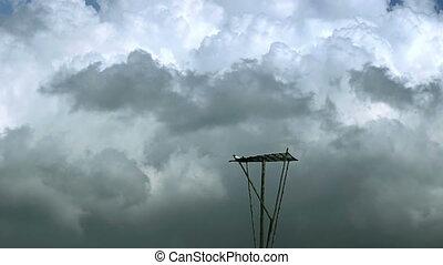 défaillance, nuages, orage, temps