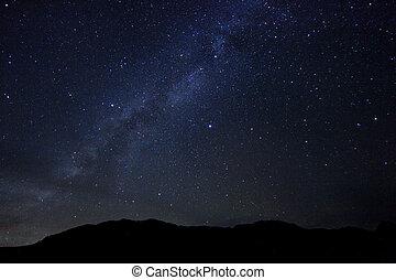 défaillance, nuit, image, étoiles, temps